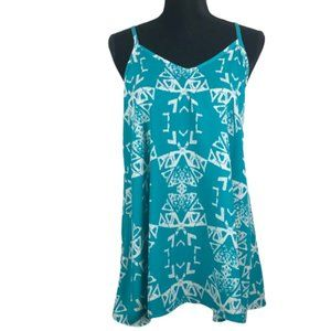 SWEET CLAIRE TOP SUMMER TANK AZTEC PATTERN